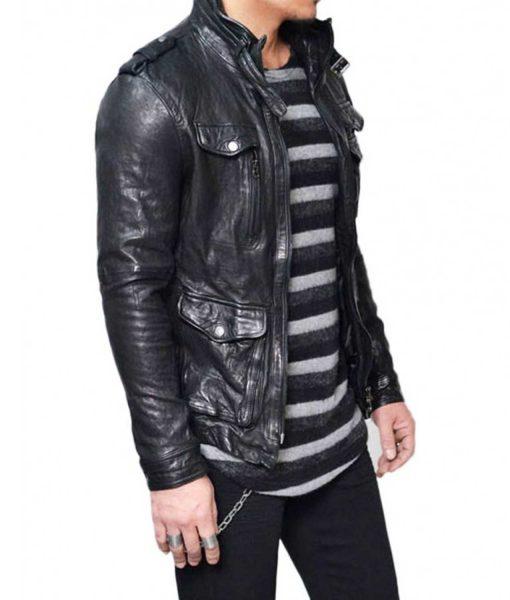 mens-designer-multi-pockets-black-lambskin-wrinkled-leather-jacket