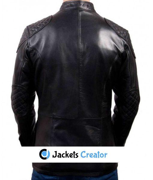 mens-flap-pockets-racing-black-leather-jacket