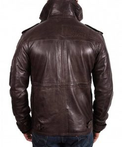 mens-flap-pockets-waxed-brown-high-neck-leather-jacket
