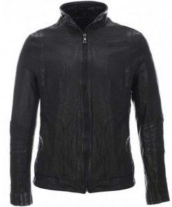 mens-high-neck-black-leather-jacket