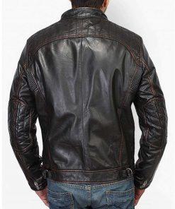 mens-stand-collar-black-leather-biker-jacket