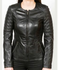 womens-collarless-leather-jacket