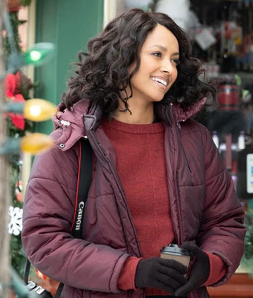 kat-graham-the-holiday-calendar-abby-sutton-puffer-jacket