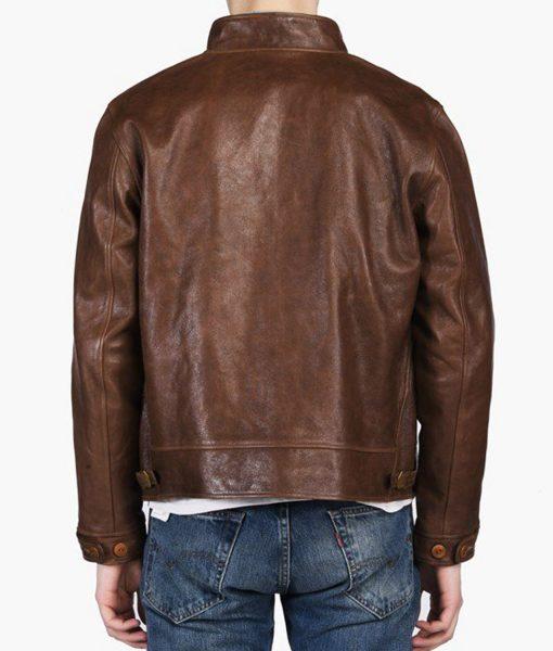 albert-einstein-vintage-brown-leather-jacket