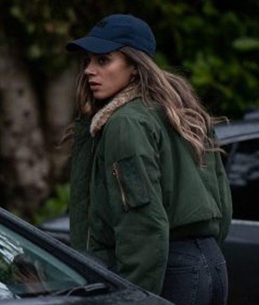 hannah-johnkamen-the-stranger-bomber-jacket