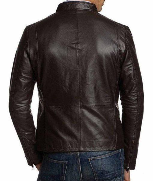 mens-simple-look-slim-fit-dark-brown-leather-jacket
