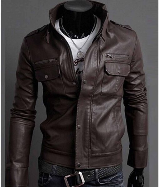 mens-slim-fit-buckle-collar-faux-leather-jacket