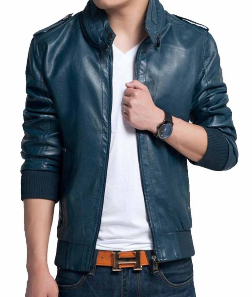 mens-slim-fit-rib-knitted-casual-leather-jacket