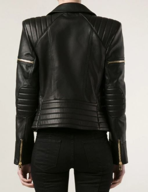 womens-zipper-pockets-padded-black-leather-biker-jacket