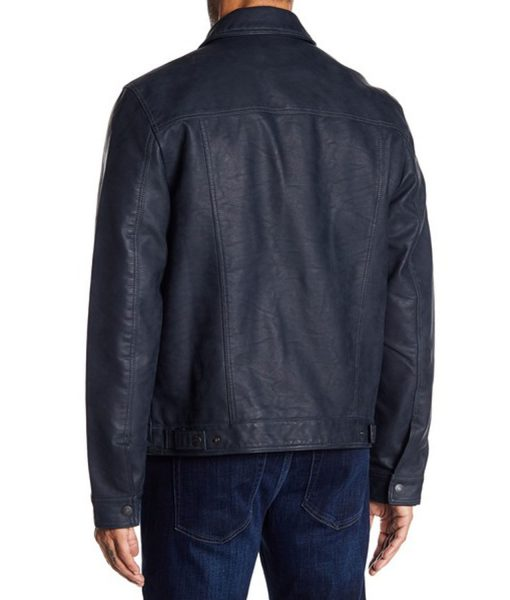 mens-classic-blue-leather-trucker-jacket