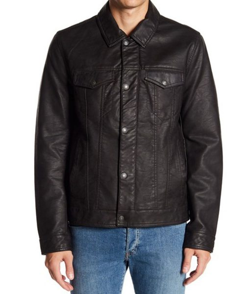 mens-classic-faux-leather-trucker-jacket