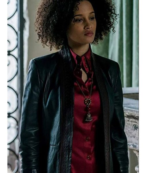 a-discovery-of-witches-elarica-juliette-durand-leather-jacket