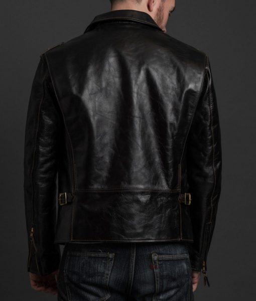 mens-biker-riders-black-leather-jacket