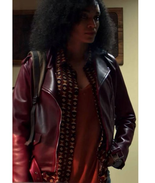 pearl-thusi-burgundy-leather-jacket