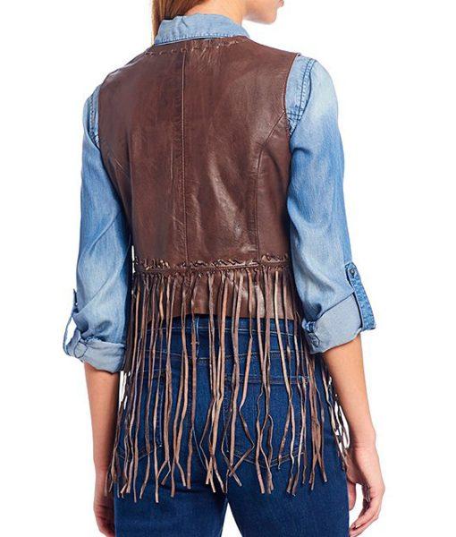 womens-brown-leather-fringe-vest