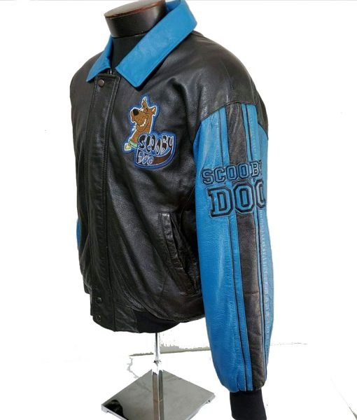 bomber-scooby-doo-leather-jacket-with-patches