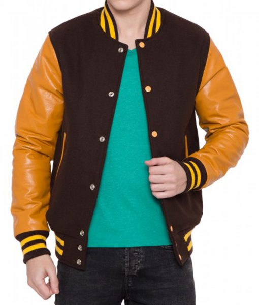 mens-brown-and-gold-bomber-jacket