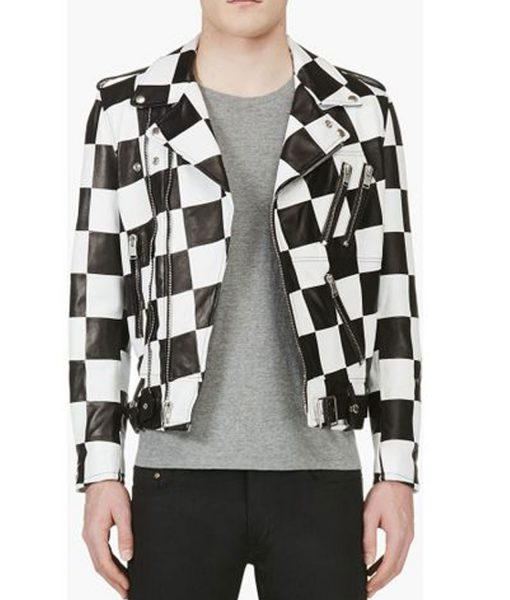 biker-checkered-leather-jacket