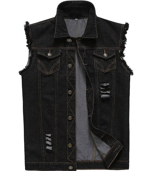black-denim-vest