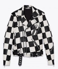 checkered-leather-jacket