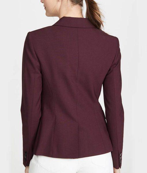 jessica-davis-burgundy-blazer