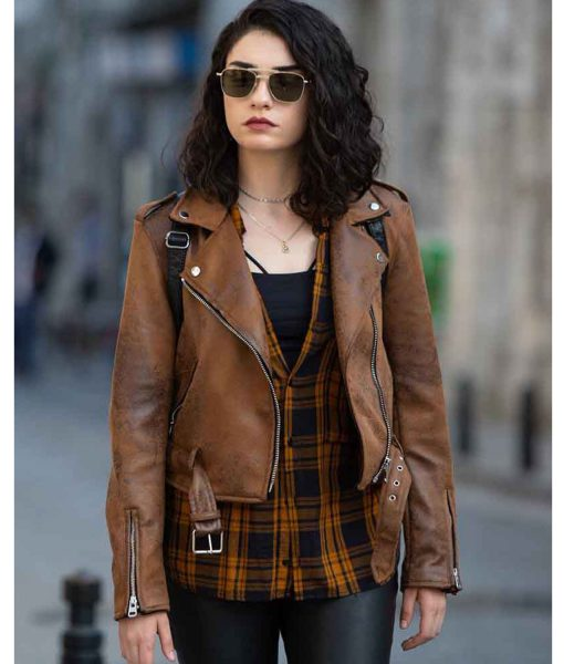 the-protector-zeynep-erman-brown-leather-jacket