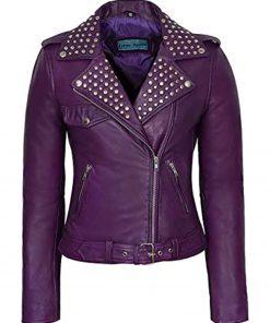 purple-studded-moto-leather-jacket