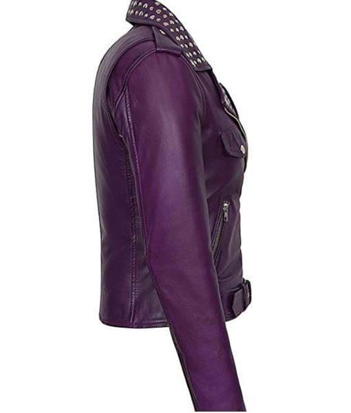 womens-purple-studded-moto-jacket