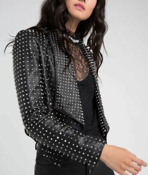 kyle-richards-trhobh-studded-leather-jacket