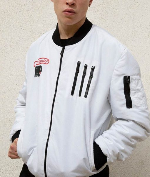 mens-white-super-mario-boo-bomber-jacket