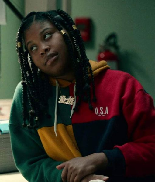 dominique-fishback-project-power-movie-robin-hoodie