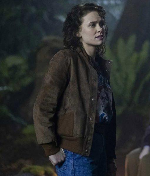 amelia-eve-the-haunting-of-bly-manor-jamie-bomber-jacket