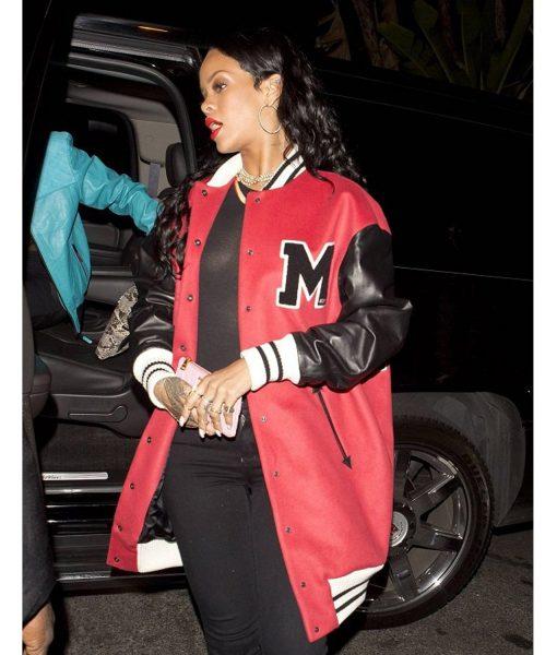 rihanna-letterman-varsity-bomber-jacket