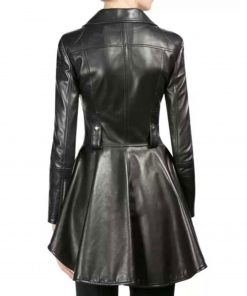 the-100-season-07-clarke-griffin-frock-style-leather-jacket