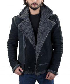 black-leather-grey-shearling-jacket