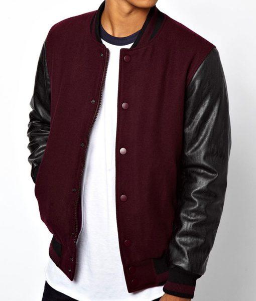 maroon-and-black-varsity-jacket