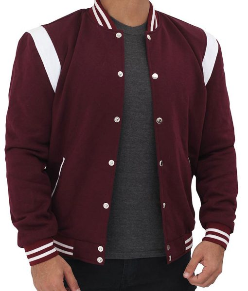 maroon-college-avarsity-jacket