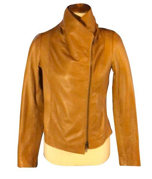 virgin-river-melinda-monroe-brown-leather-jacket