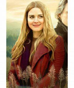 virgin-river-melinda-monroe-red-leather-jacket