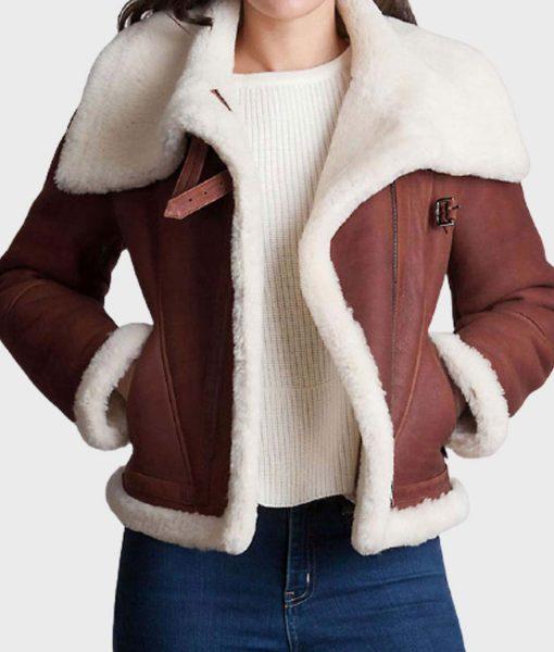 womens-brown-shearling-jacket
