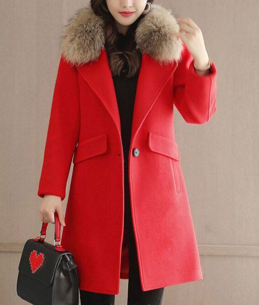 womens-winter-red-wool-coat