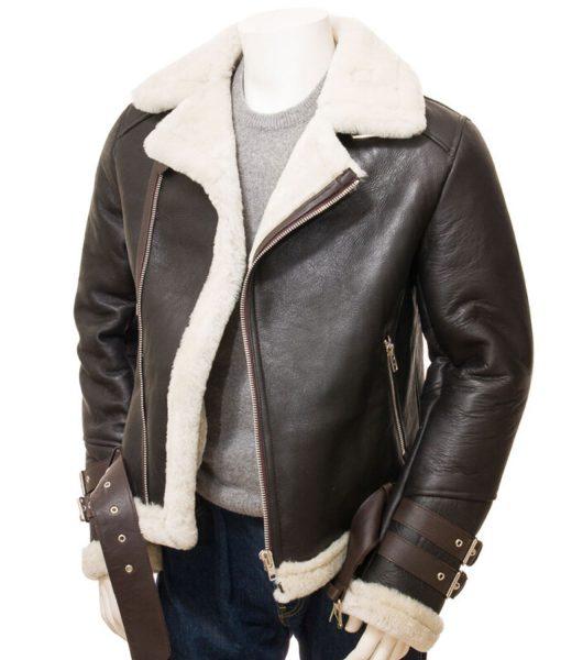 mens-biker-brown-leather-shearling-jacket