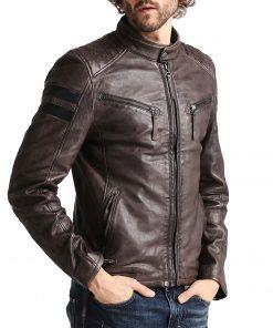 mens-brown-leather-biker-jacket