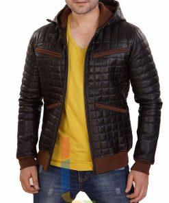 mens-leather-hoodie