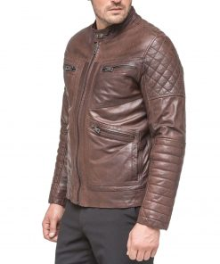 mens-waxed-brown-leather-jacket