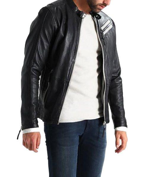 mens-white-zipper-leather-jacket