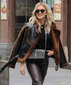 ashley-roberts-shearling-jacket