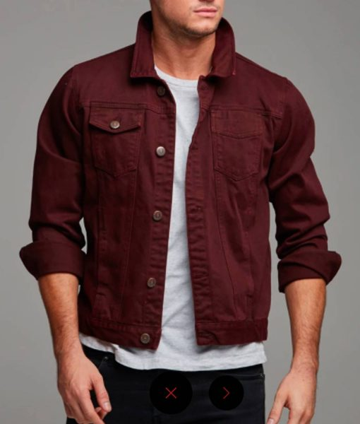 burgundy-denim-jacket