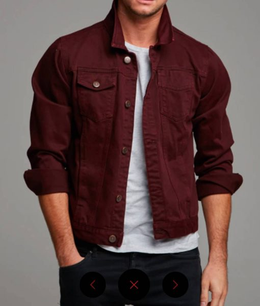 mens-denim-burgundy-jacket