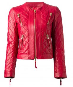 womens-red-quilted-leather-jacket